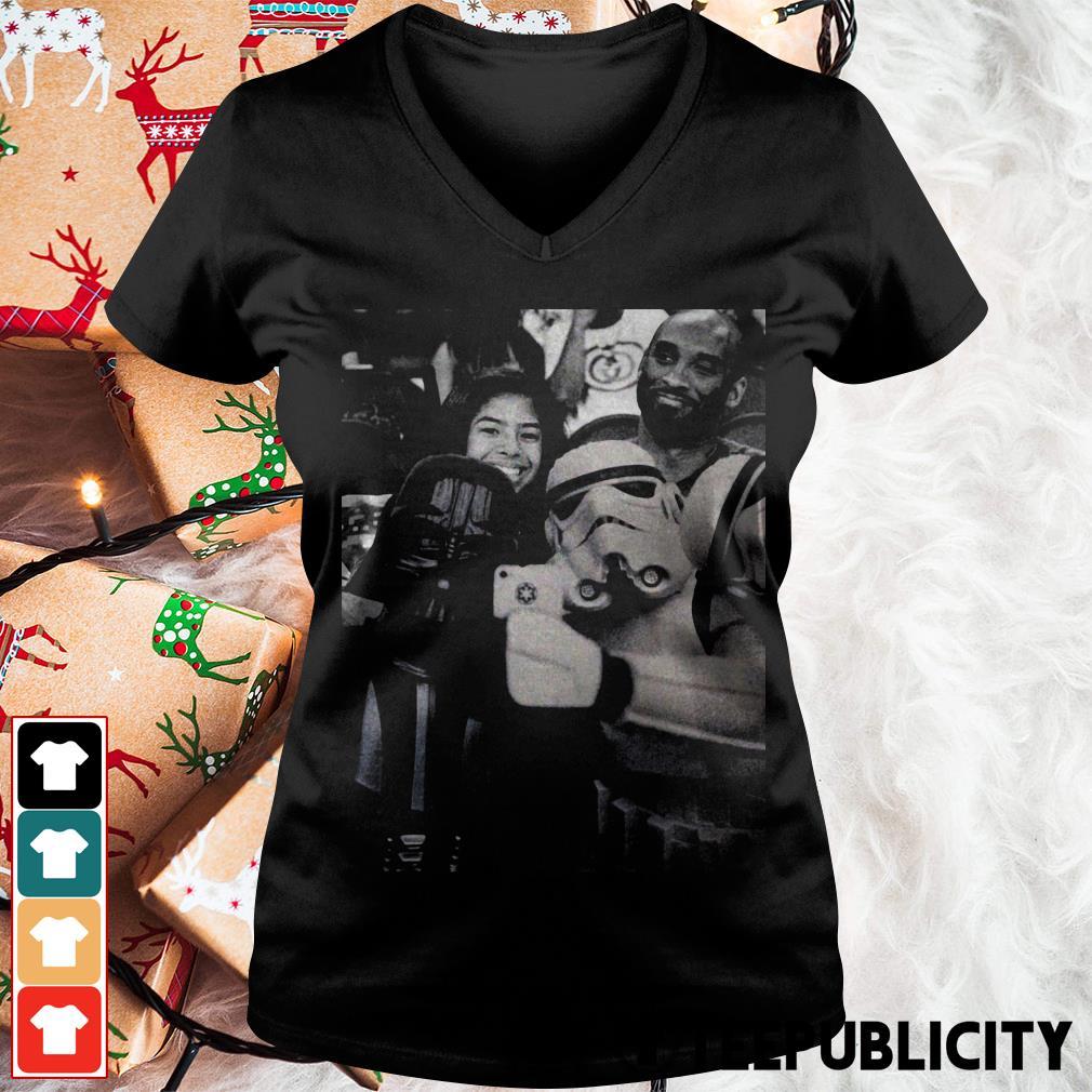 Darth Vader and Stormtrooper selfie with Kobe Bryant V-neck T-shirt