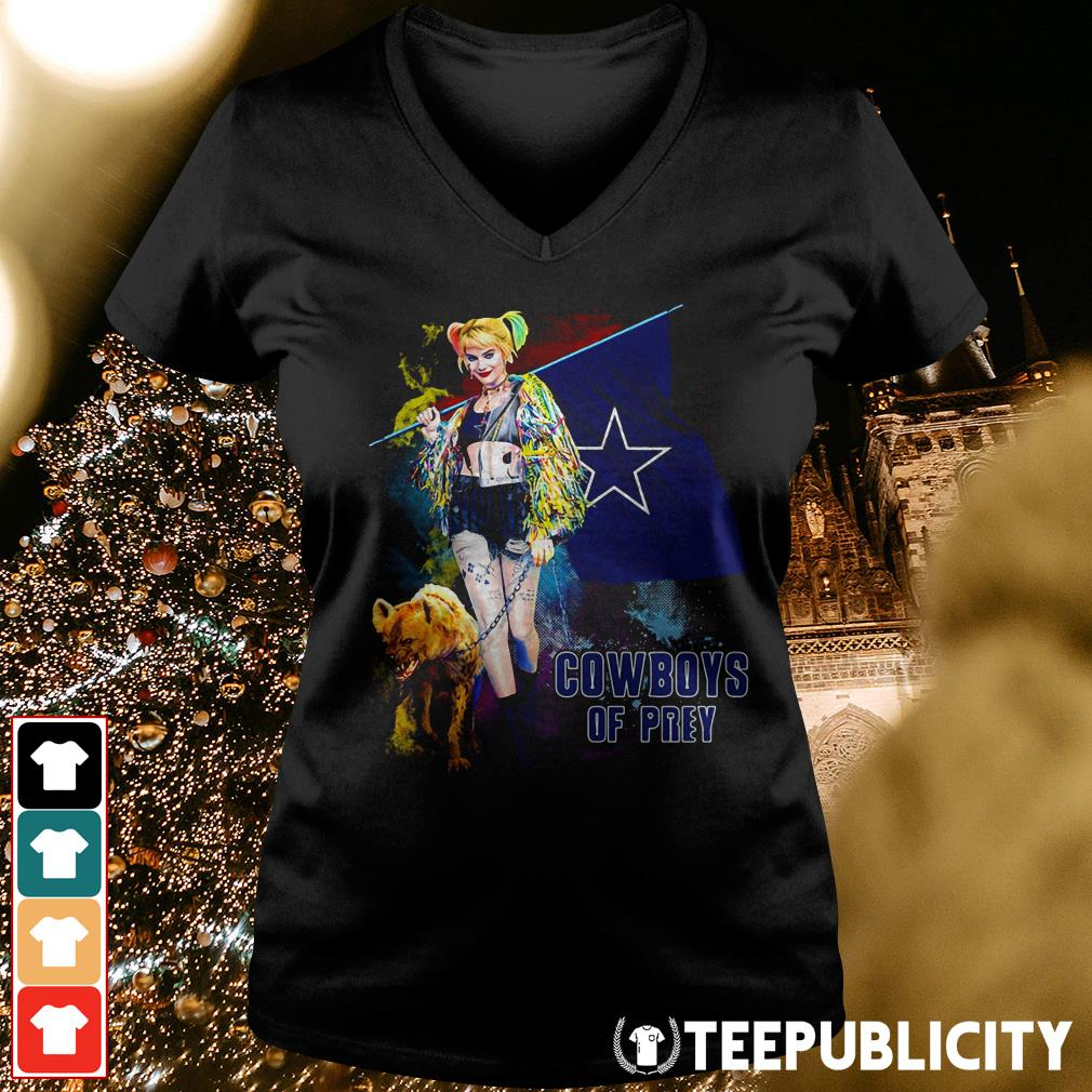 Harley Quinn Dallas Cowboy of Prey V-neck T-shirt