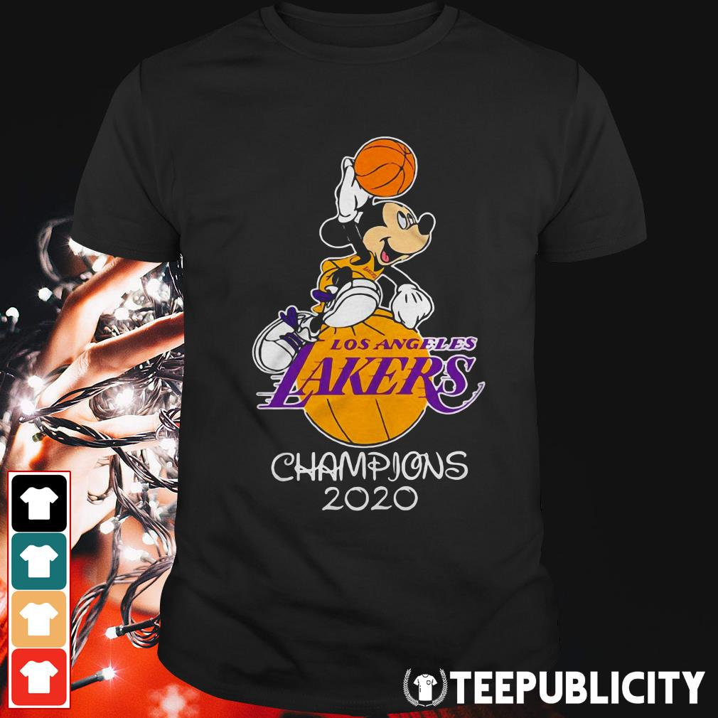Mickey mouse Los Angeles Lakers champions 2020 shirt