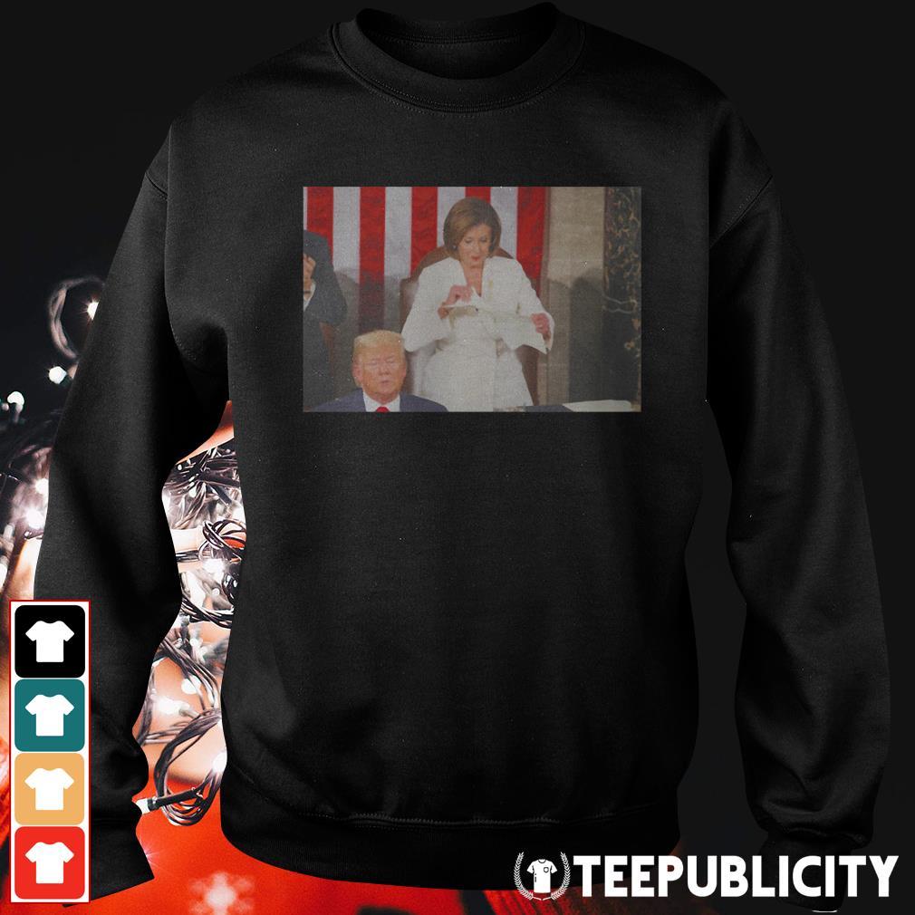 Nancy Pelosi ripped up speech Trump Sweater