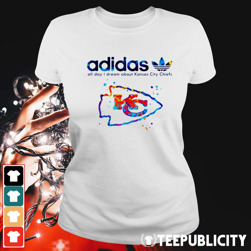 Official Adidas all day I dream about Kansas City Chiefs Ladies Tee