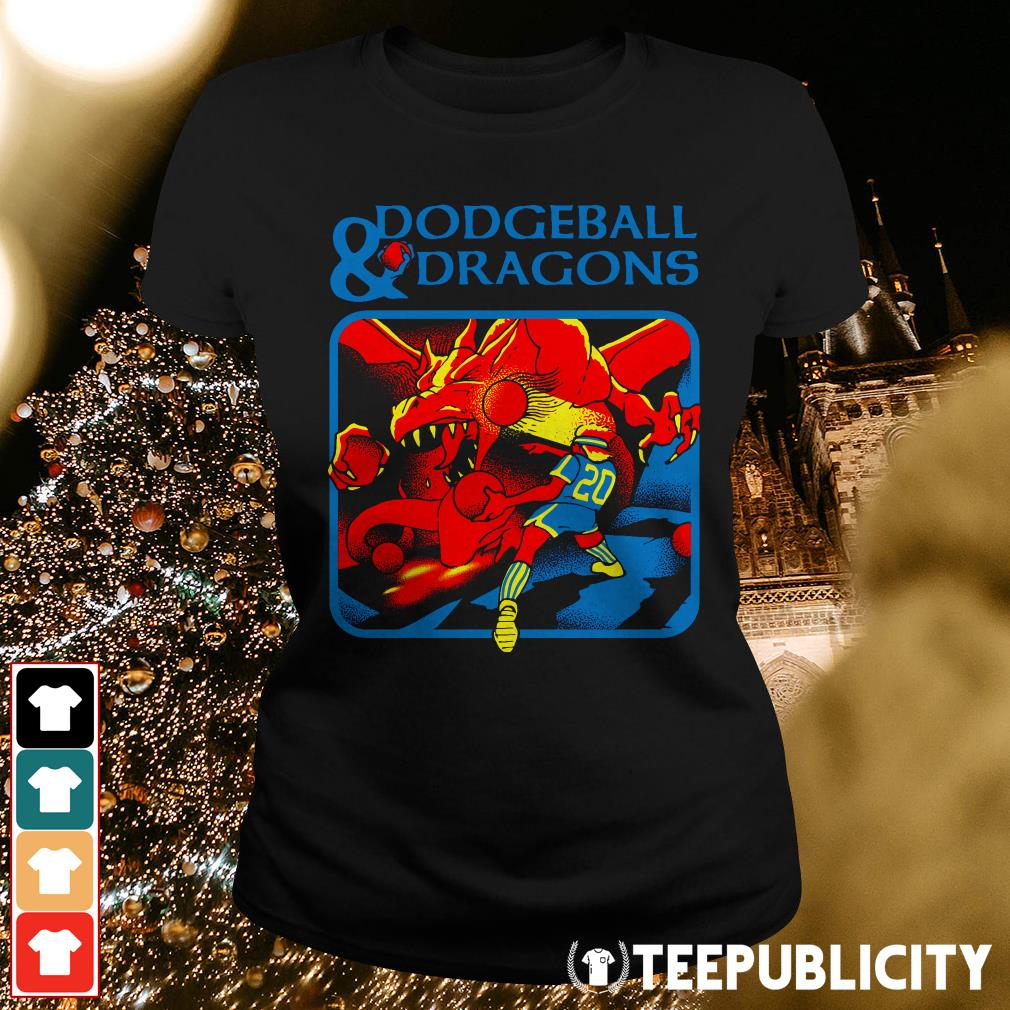 Official Dodgeball and dragons Ladies Tee