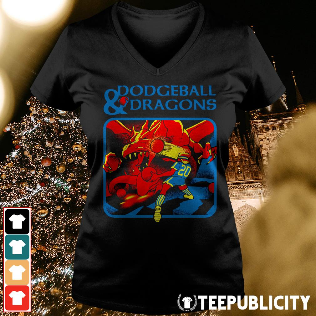 Official Dodgeball and dragons V-neck T-shirt