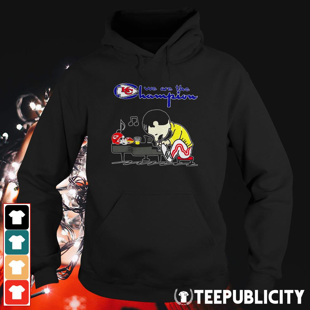 Official Freddie Mercury play Piano we are the Champions Kansas City Chiefs Hoodie
