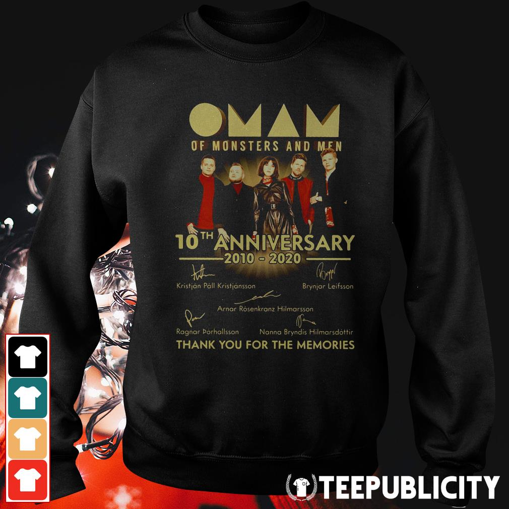 Official Oman of monsters and men 10th anniversary 2010 2020 thank you for the memories signatures Sweater