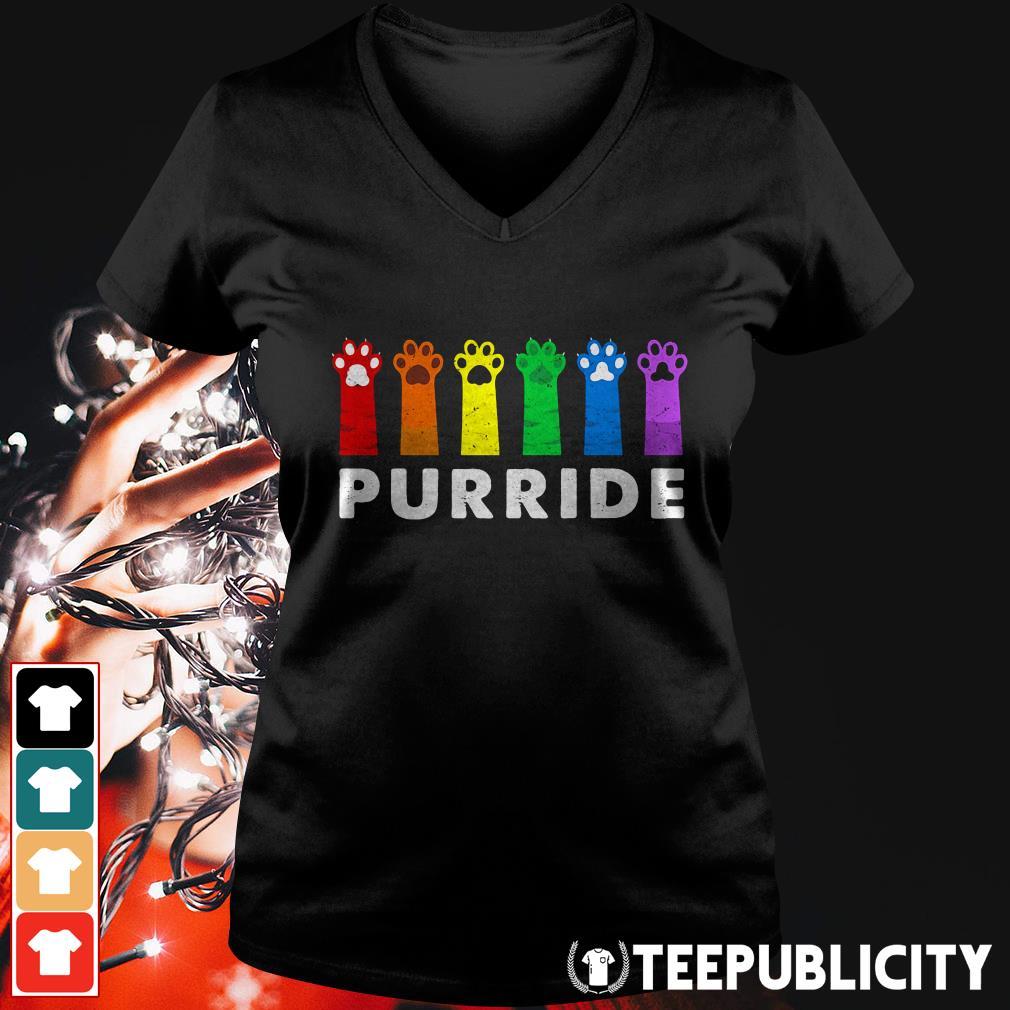 Official Paws Cat Purride V-neck T-shirt