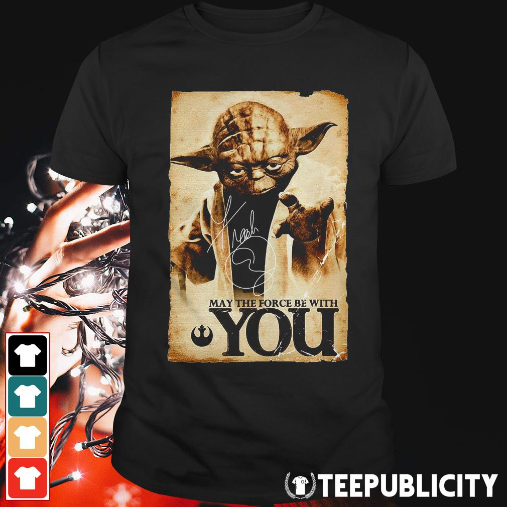 Official Star Wars Yoda May the force be with you shirt