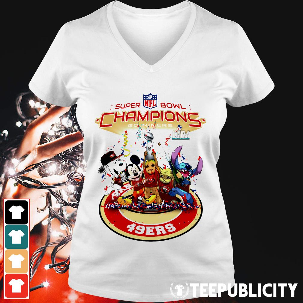 Official Super Bowl NFL champions go niners San Francisco 49ers V-neck T-shirt