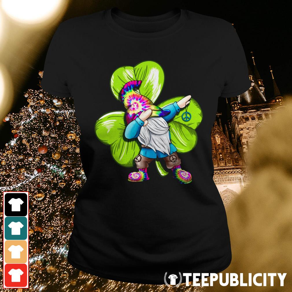 St Patrick's day hippie gnome dabbing Ladies Tee