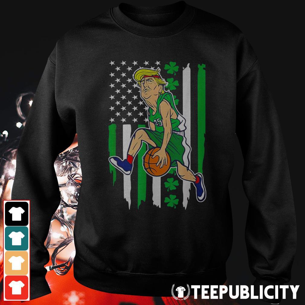 St Patrick's Day Trump basketball American Shamrock flag Sweater