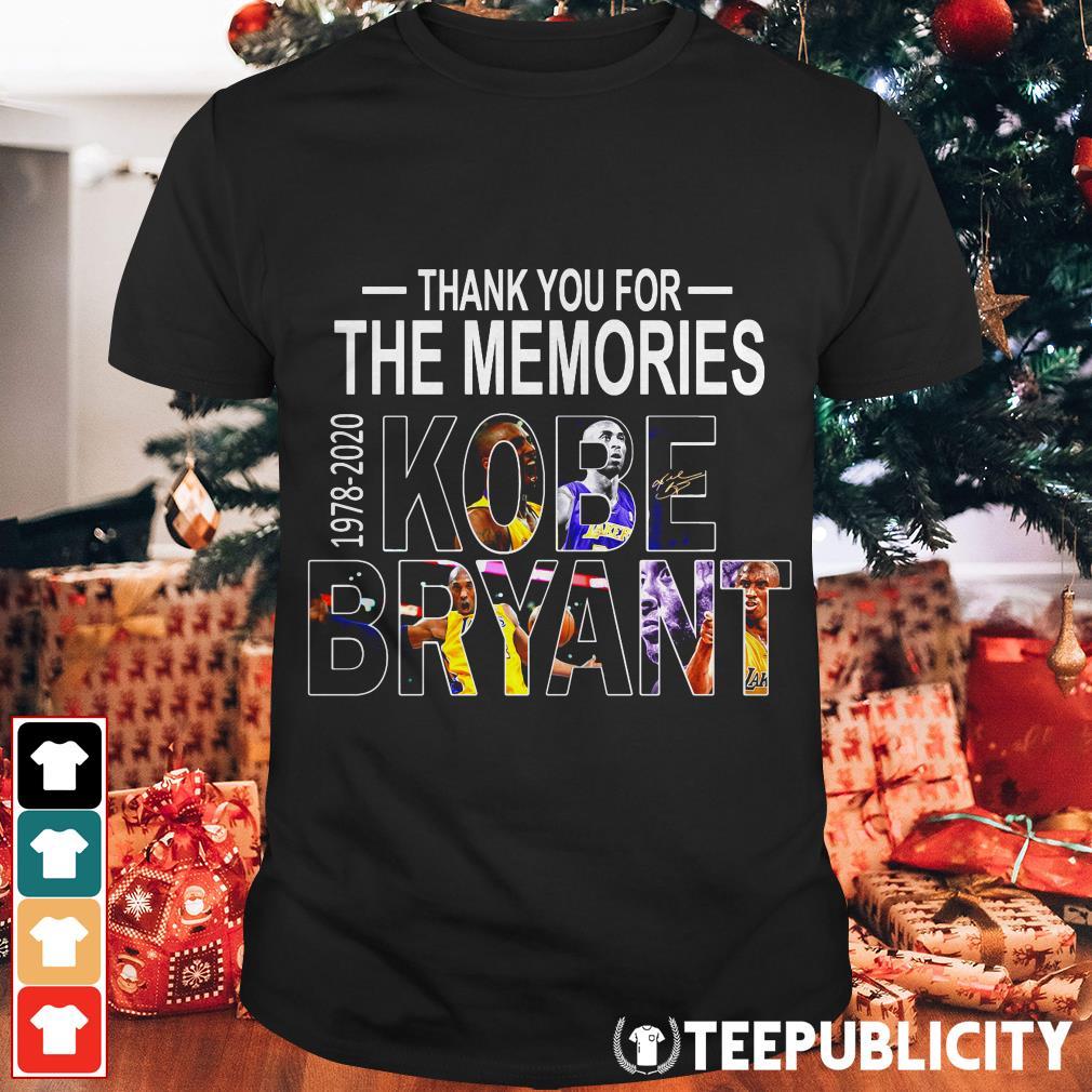 Thank you for the memories 1978-2020 Kobe Bryant shirt