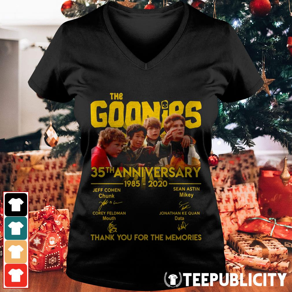 The Goonies 35th anniversary 1985-2020 thank you for the memories V-neck T-shirt