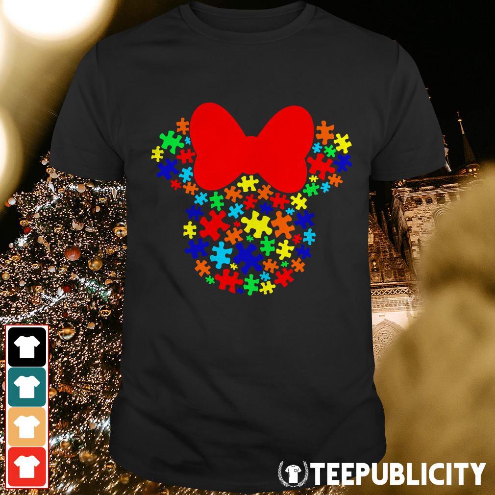 Autism Awareness Minnie mouse shirt
