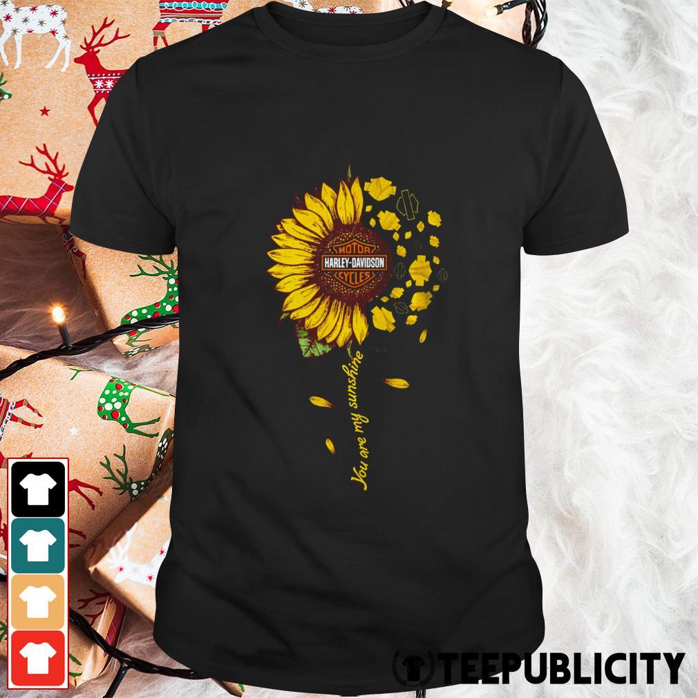 Harley-Davidson motorcycles sunflower you are my sunshine shirt