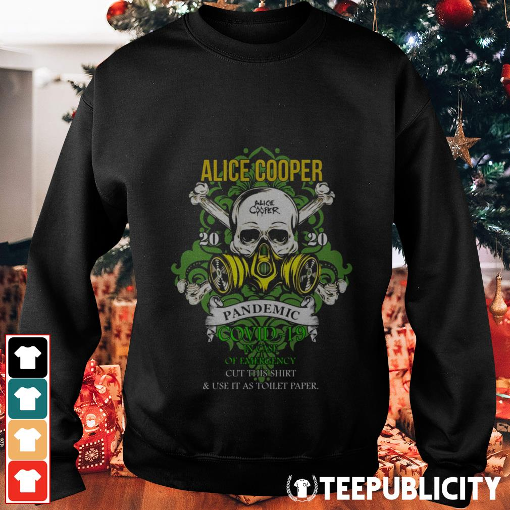 Alice Cooper 2020 pandemic in case of emergency Sweater