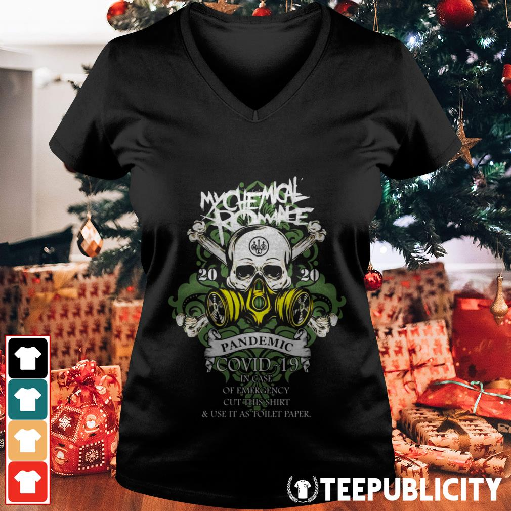 My Chemical Romance 2020 pandemic in case of emergency V-neck T-shirt