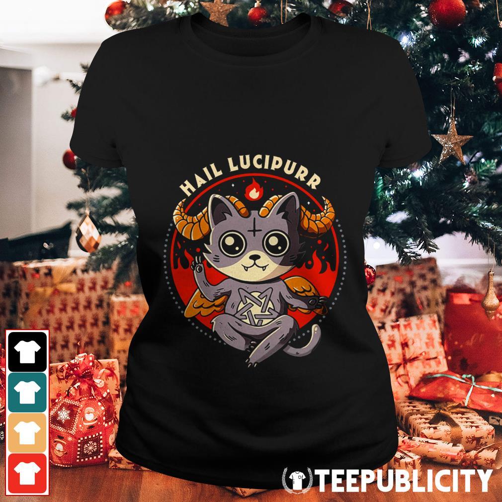 Satan cat Hail Lucipurr Ladies Tee