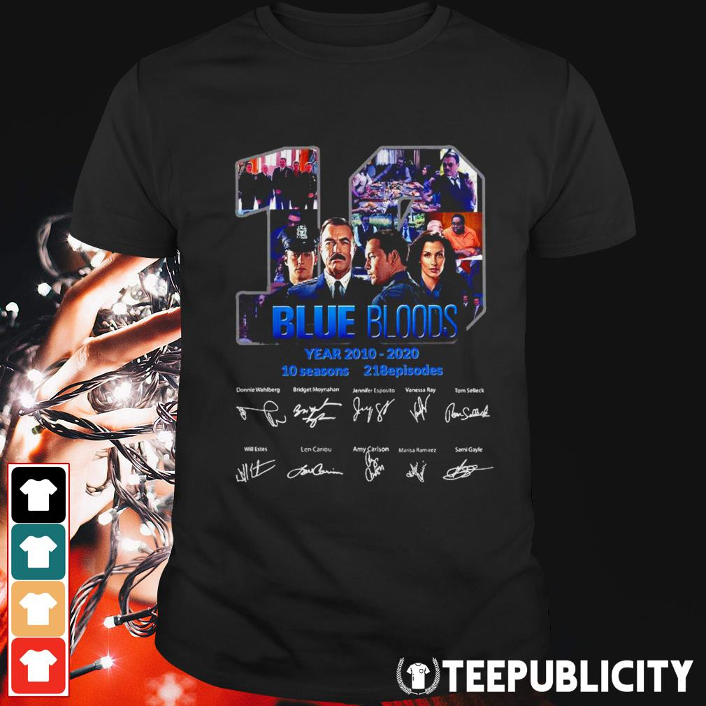 19 Blue Bloods year 2010-2020 signatures shirt