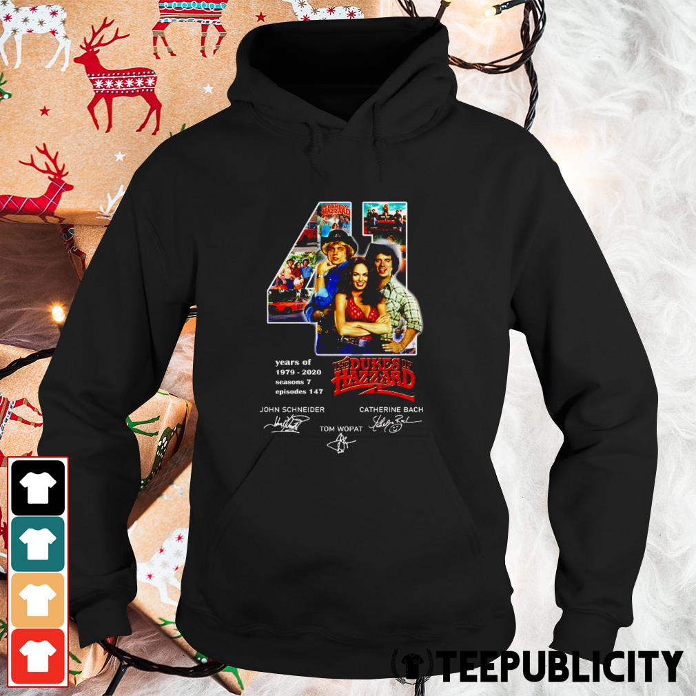 41 years of The Dukes of Hazzard signatures Hoodie