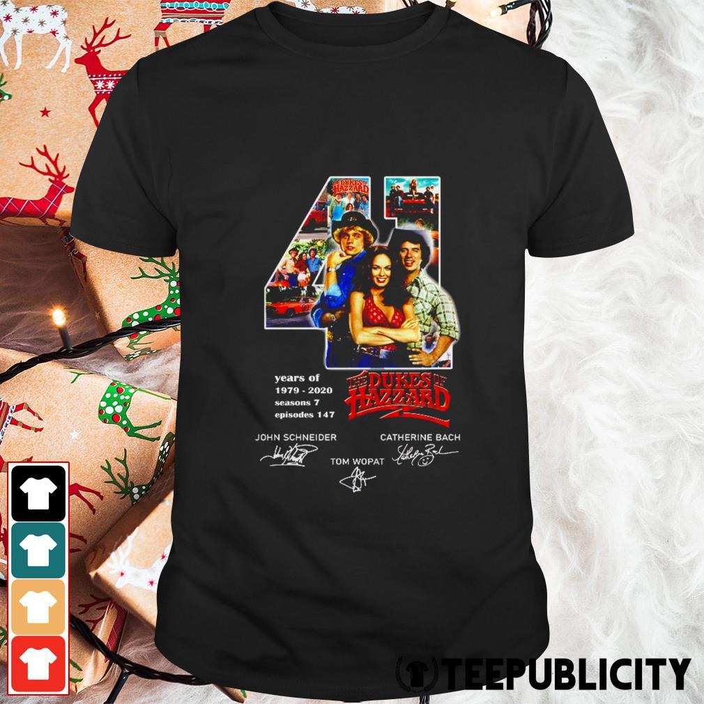 41 years of The Dukes of Hazzard signatures shirt