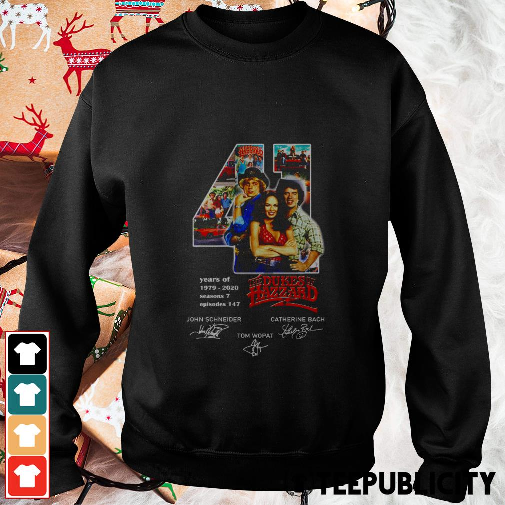 41 years of The Dukes of Hazzard signatures Sweater