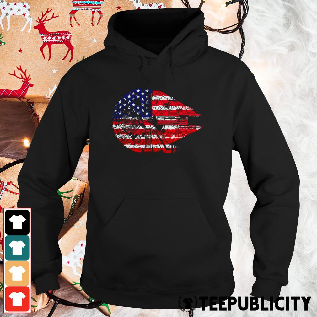 4th of July Millennium Falcon American flag Hoodie