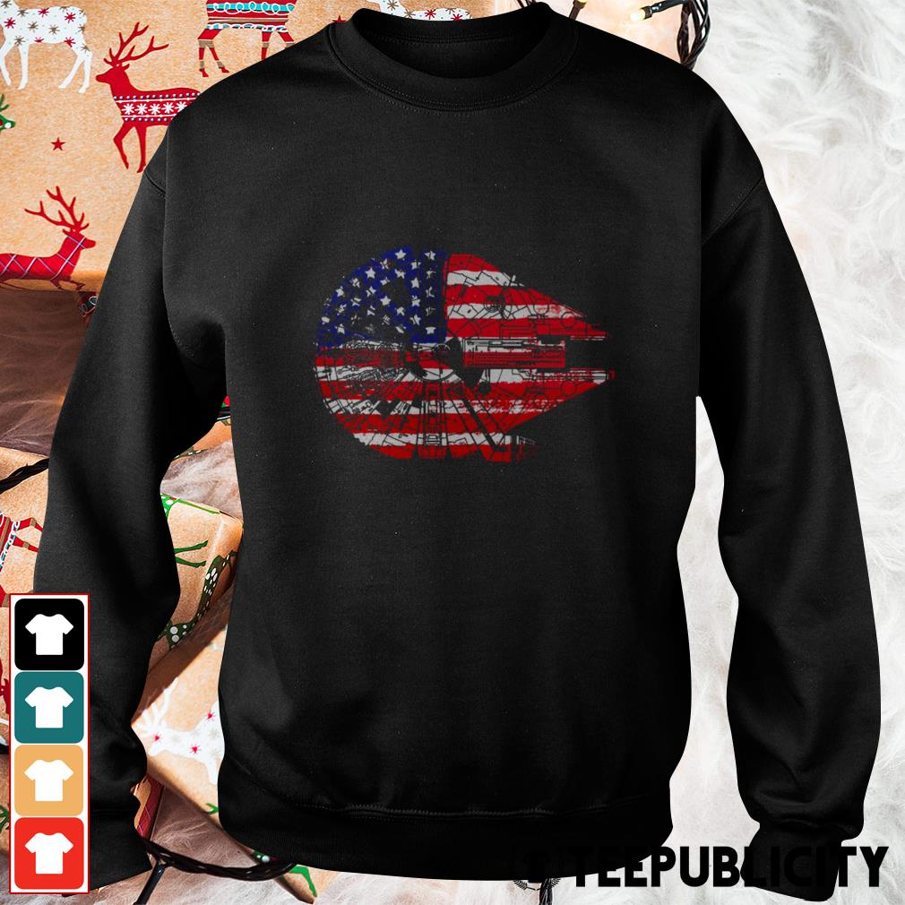 4th of July Millennium Falcon American flag Sweater