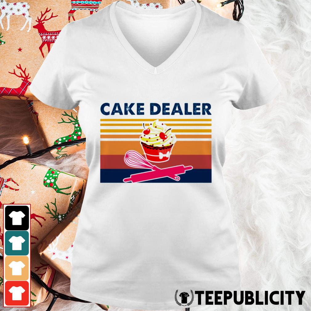Cake dealer vintage V-neck T-shirt