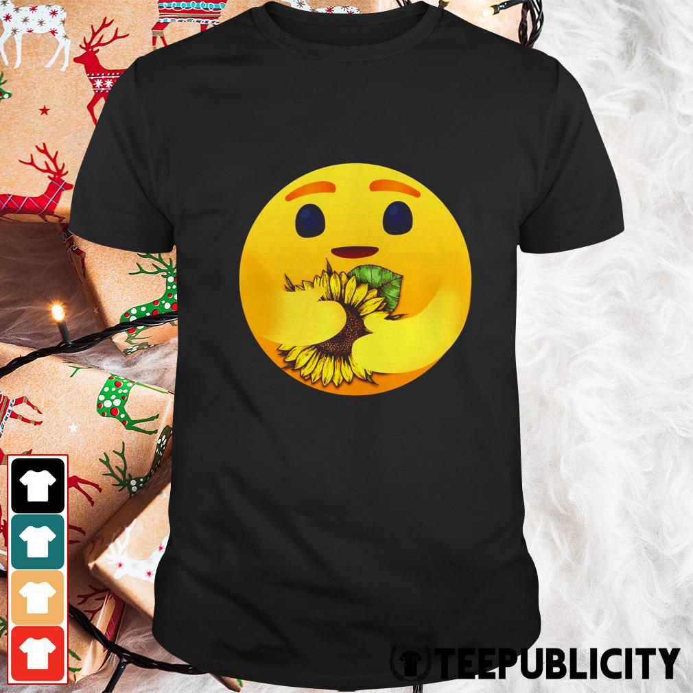 Care emoji hug sunflower shirt