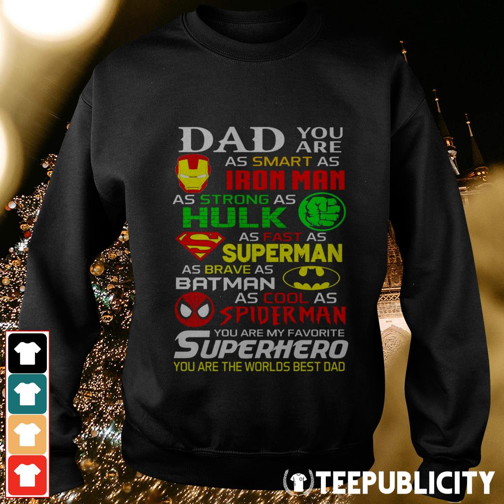 Dad you are as smart as Iron man as strong as Hulk Sweater