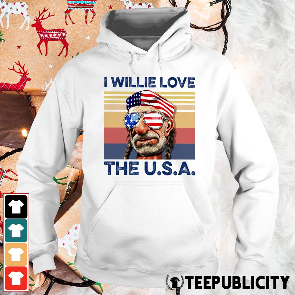 I Willie love the USA vintage Hoodie