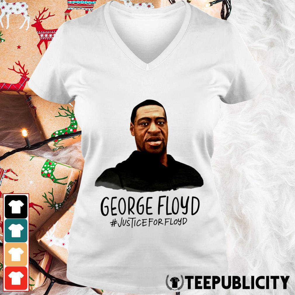 RIP George Floyd #justiceforfloyd V-neck T-shirt