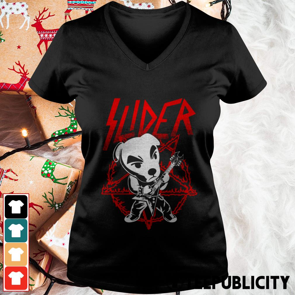 Slider King Metal designs by draculabyte V-neck T-shirt