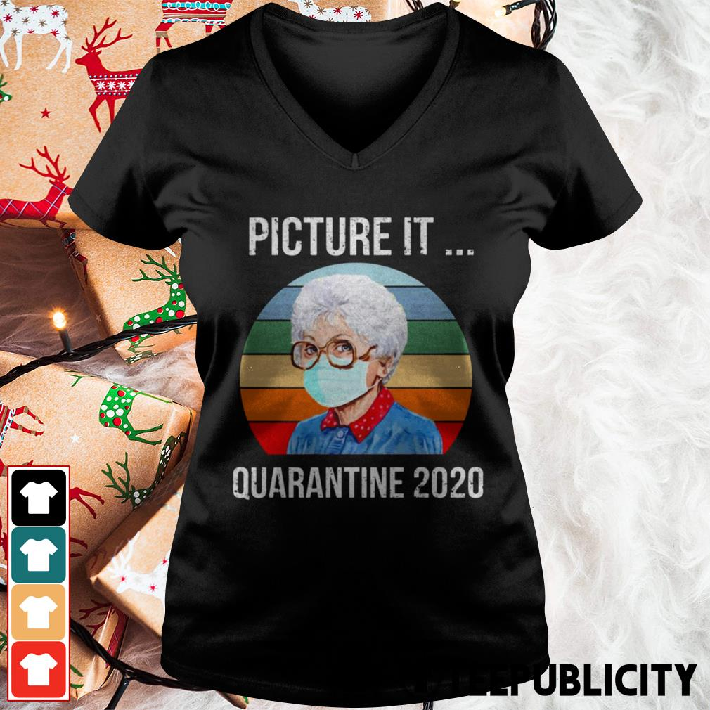 Sophia Picture it quarantine 2020 vintage V-neck T-shirt