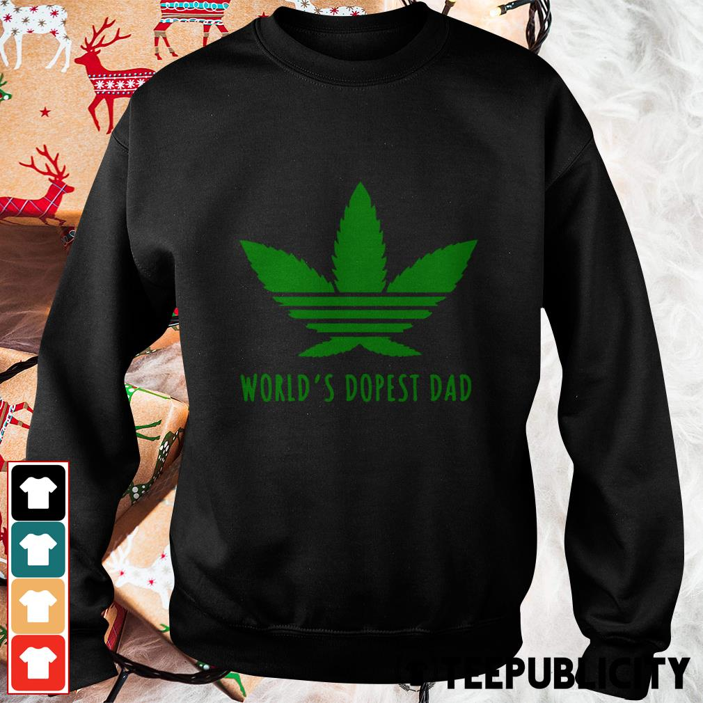 Weed world's dopest dad Sweater