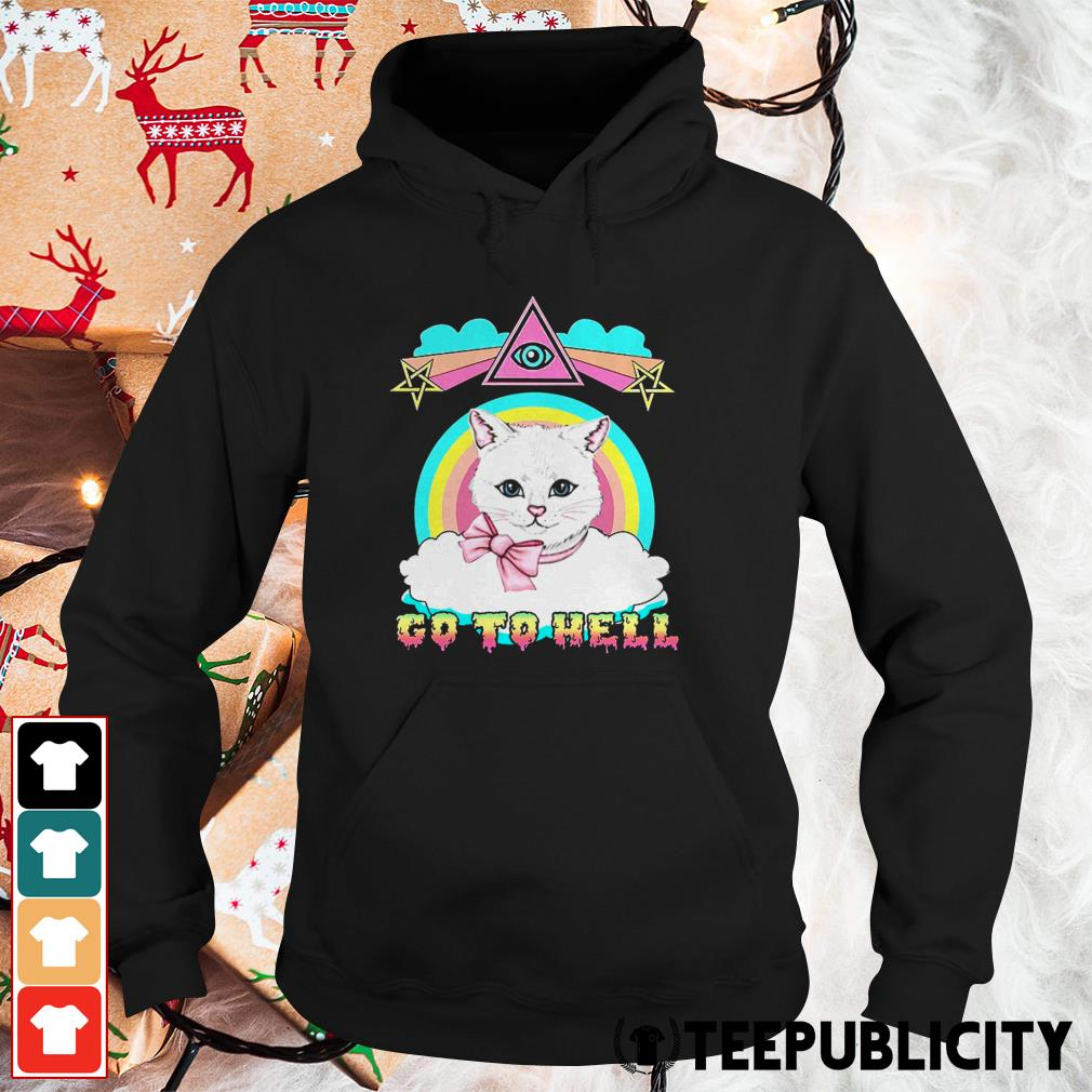 White cat go to hell Hoodie