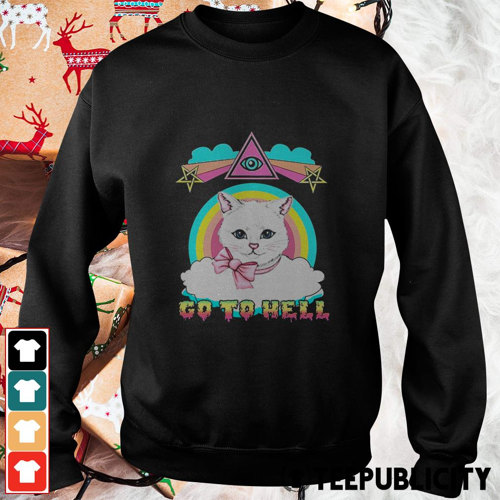 White cat go to hell Sweater