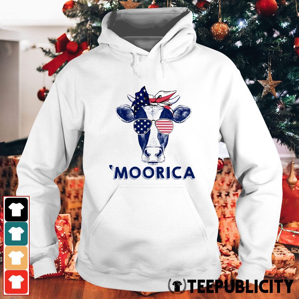 4th of July Cow 'Moorica Hoodie