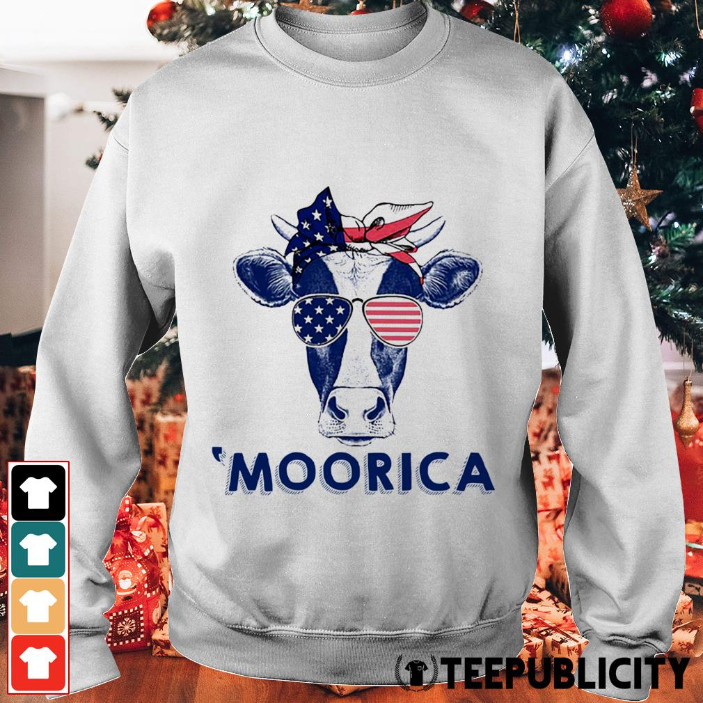 4th of July Cow 'Moorica Sweater
