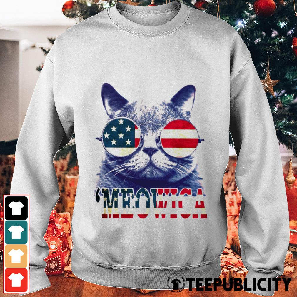 4th of July 'meowica British Shorthair Cat Sweater