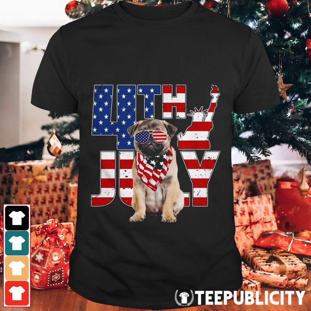 4th of July Pug shirt