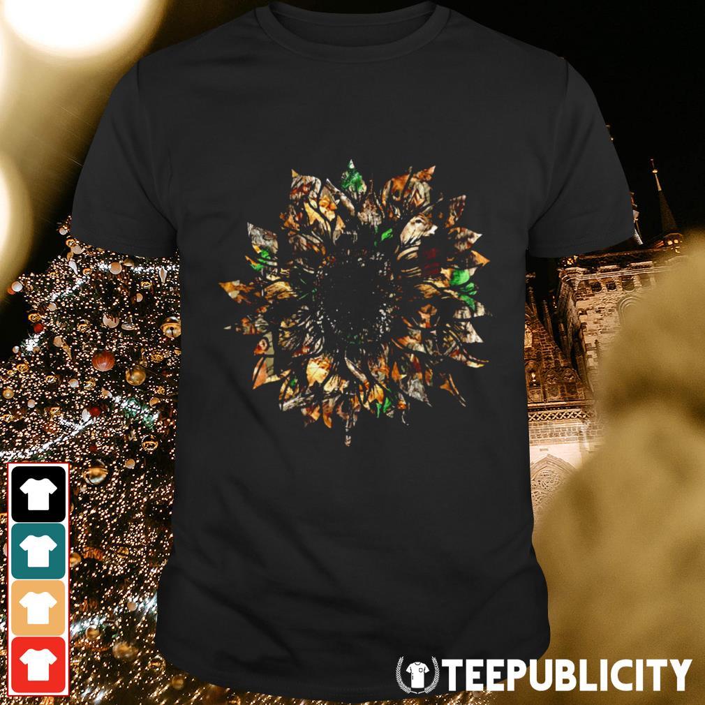 Hunting sunflower shirt