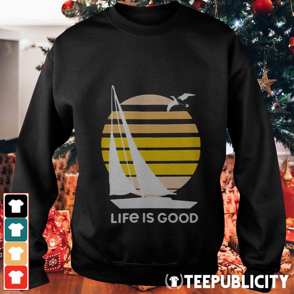 Seas The Day Textured Slub Life Is Good Sweater