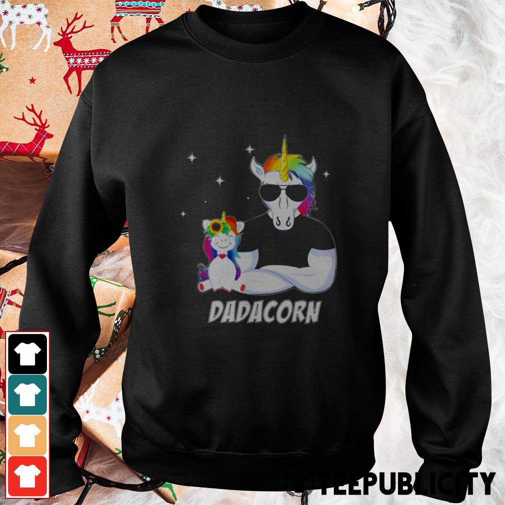 Unicorn Dadacorn dad Father's day Sweater