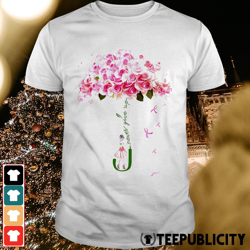 Breast cancer flower never give up shirt