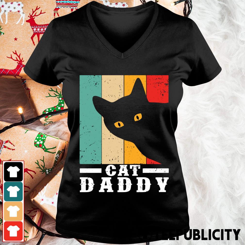 Cat daddy vintage s v-neck-t-shirt