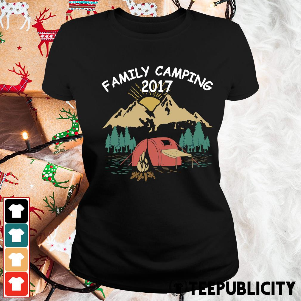 Family camping 2017 vintage s ladies-tee