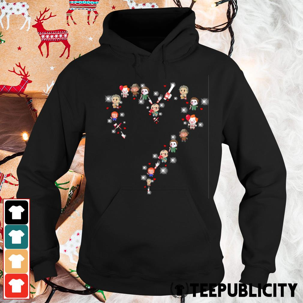 Halloween Horror characters chibi heart s hoodie