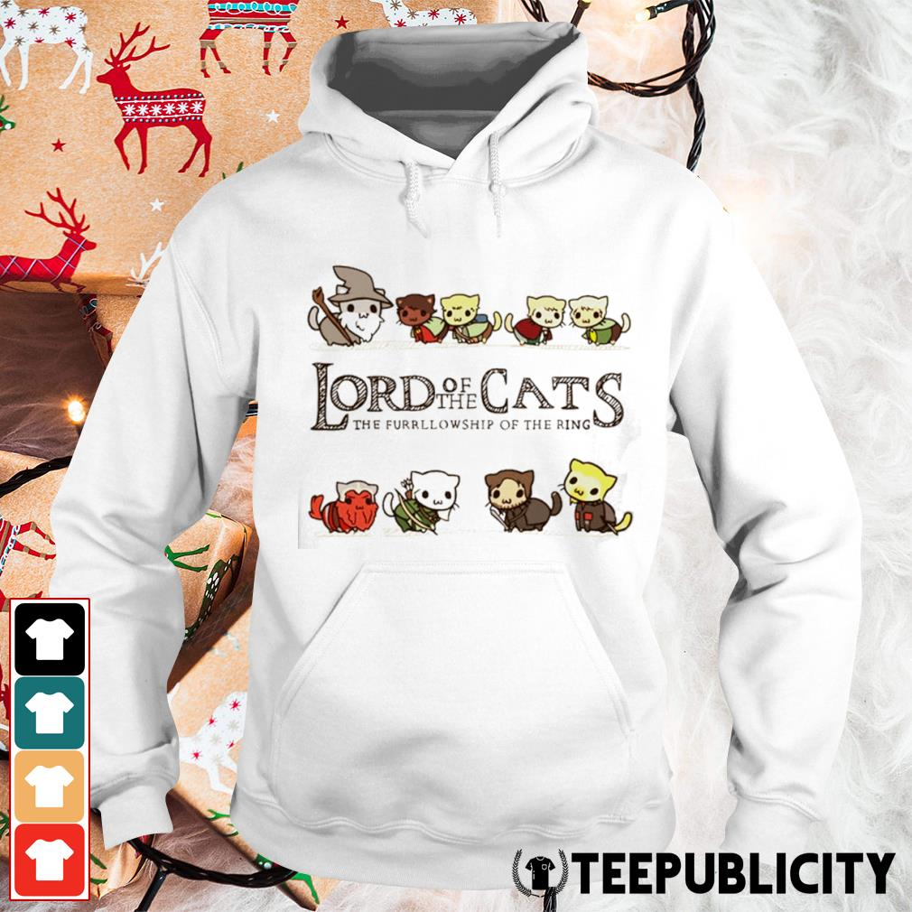 Lord of the Cats the fellowship of the ring s hoodie