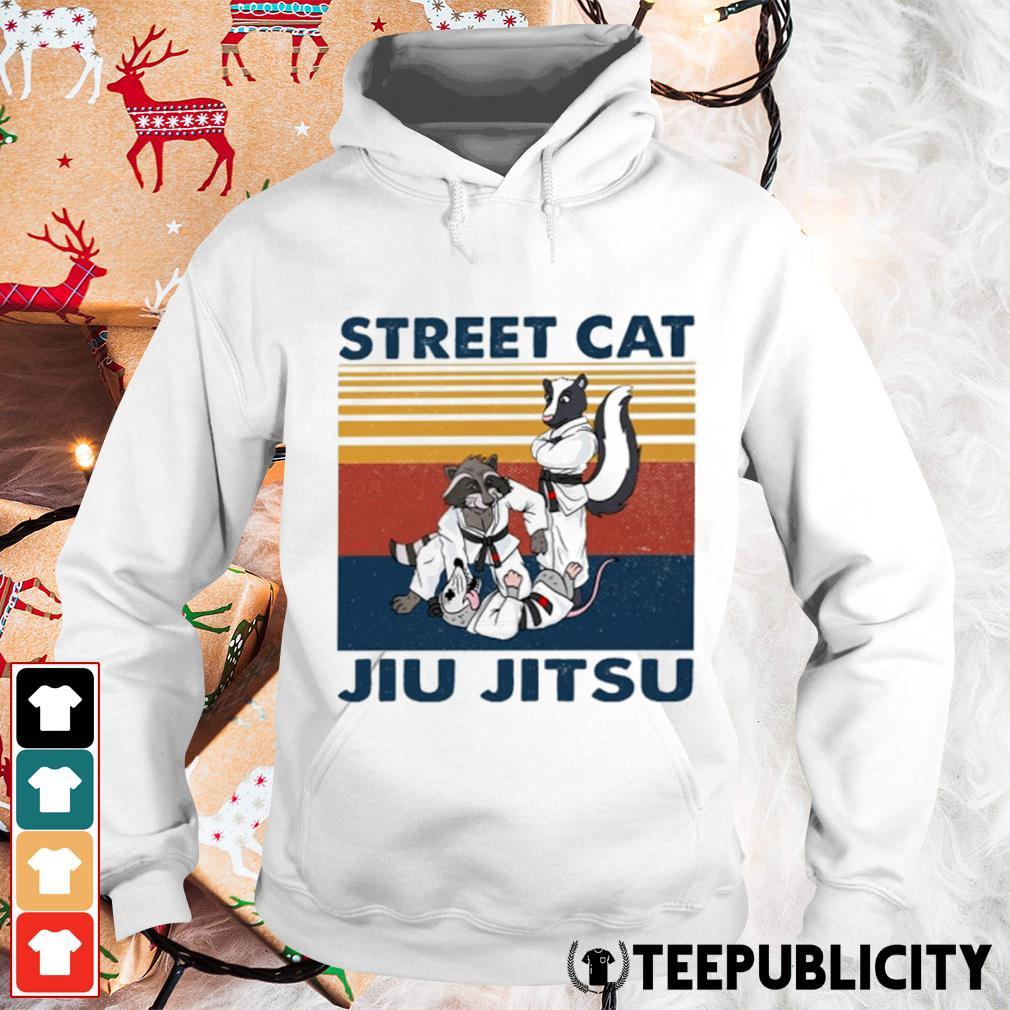 Racoon and opossum street cat jiu jitsu vintage s hoodie